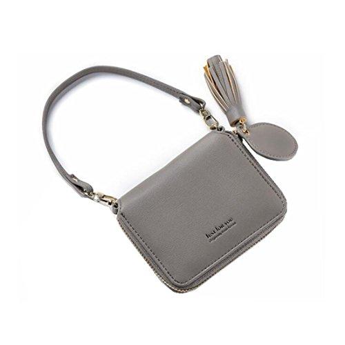 Pochette Portafoglio Pelle Gray Gray Dhrfyktu In Mini Da Donna color Morbida Nappa Con 5Pw8zq4P