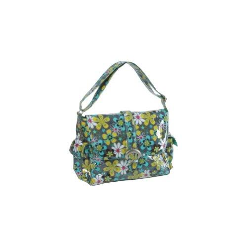 """Kalencom - bolsa para pañales, piezas bolsa de pañales, baberos, bolsa bolso de la madre, la bolsa con cinta recubierta, razón """"Pétalos"""" Multicolor"""