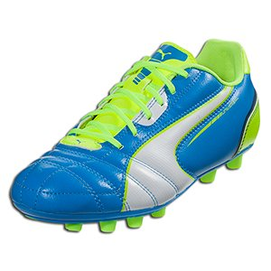 PUMA Women's Universal FG Firm Ground Soccer Cleat,Brilliant Blue/Wht/ Flourisant Yellow/Poseidon,8 B US