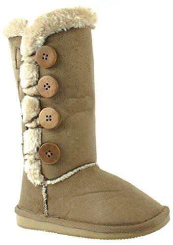 TM Shoes Women's Fur Pk-159 Winter Fur Women's Boots with Button Closure B019AKCMSS Shoes 6de676