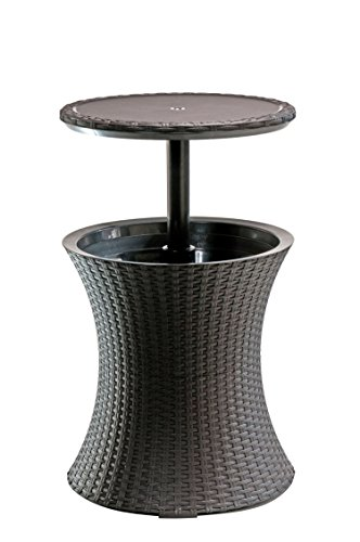 Care 4 Home LLC Multifunctional Outdoor Rattan Cooler Bar Coffee Table, Practical, Space Saving Design, Suitable for Poolside, Garden Party, Bar, Beach, Patio Furniture, Brown Color + Expert Guide ()