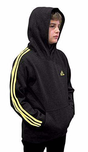 Outerstuff adidas Youth Fleece Collection (Youth Xlarge 18/20, Fleece Pullover Hoodie, Black/Yellow) by Outerstuff