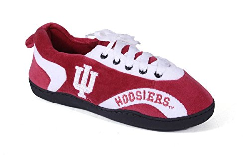 (IND05-5 - Indiana Hoosiers - 2XL - Happy Feet Mens and Womens All Around Slippers)