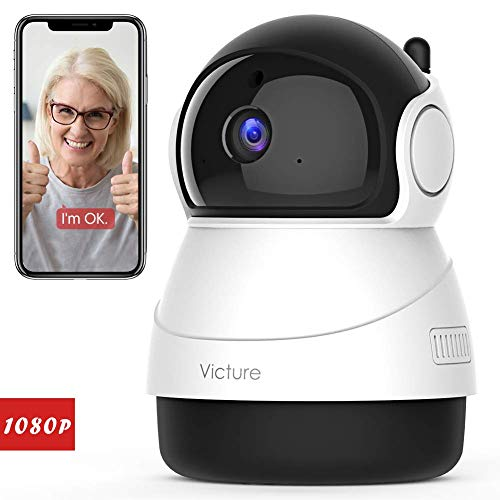 🥇 Victure 1080P WiFi Pet Camera FHD Indoor Surveillance Security IP Camera with Motion Detection Night Vision 2-Way Audio Cloud Storage for Baby/Elder/Pet Monitor with Camera