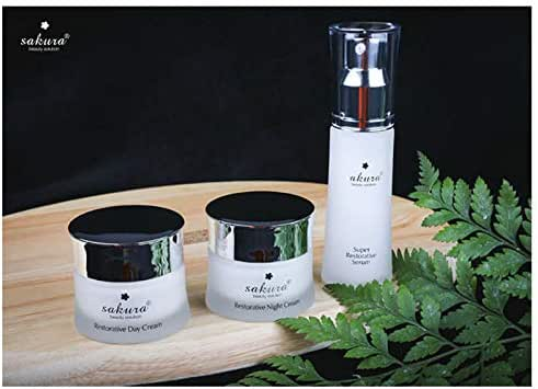 Set 3 Boxes -Anti-aging skin recovery products Sakura Restorative - Bo San Pham phuc hoi da chong lao hoa Sakura Restorative
