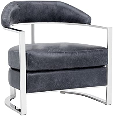 Amazon.com: sunpan modern Kentworth sillón, profundo azul ...