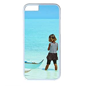 Fantasy Design White PC Case for Iphone 6 Blue Sea and Sky