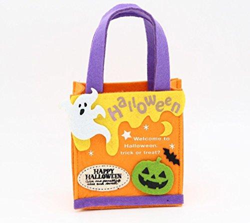 Sumworld Halloween Pumpkin Mini Bag Kids Candy Bag Trick or Treat basket Tote handbags Party Costumes