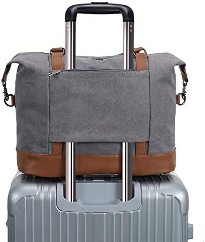 Weekender Overnight Bag Womens Carry-on Travel Duffel Bags Grey