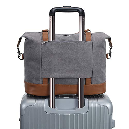 Weekend Overnight Bag Womens Carry-on Travel Duffel Tote bag(Gray)