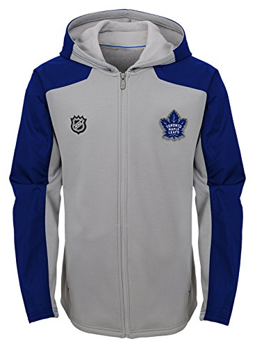 NHL Toronto Maple Leafs Youth Boys Delta Full Zip Jacket, Large(14-16), Magenta Pique Heather