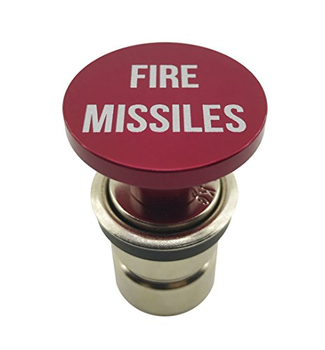 Fire Missiles Button Car Cigarette Lighter by Citadel Black – Anodized Aluminum, 12-Volt Replacement Accessory, Fits Most Vehicles, Socket Size A