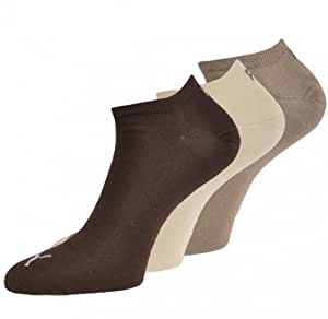 Puma Invisible sneaker - Calcetines tobilleros unisex, pack de 6, color marrón (chocolate), talla 43/46