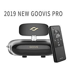 GOOVIS Pro VR Headset with D3 Controller,3D Theater Goggles,Support 4K blu-ray Player Sony 1920x1080x2 HD Screen 4K VR FPV,Compatible with Set-top Box DJI Drones PS4 Xbox PC Nintendo Smart Phone