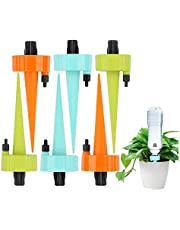 Self Watering Spikes, Upgrade Adjustable Plant Waterer Watering Devices for Indoor or Garden, Automatic Vacation Drip Irrigation Watering Kits with Slow Release Control Valve Switch (6pcs)