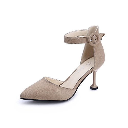 White with 36 Shoes with The Heel Light Hollow Tide Wild Stylish High Female Tip yalanshop Single Fine wqfARPZ
