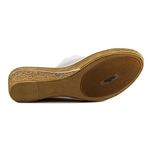 Easy Street Dames Adagio Wedge Slide Wit Lak / Stretch