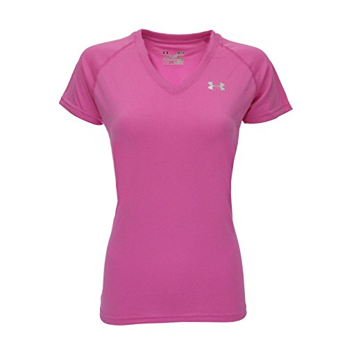 Gum Bubble Womens (Under Armour Women's T-Shirt, Bubble Gum/Steel, XS)