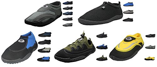 Mens Aqua Socks Water Shoes - High performance, Comfortable, & Durable Navy Blue / Gray - 1