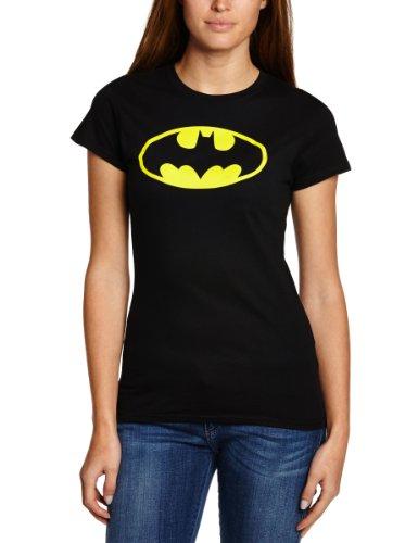 説明的外向きティーンエイジャーBatman Classic Logo 公式レディーススキニーフィットのTシャツ