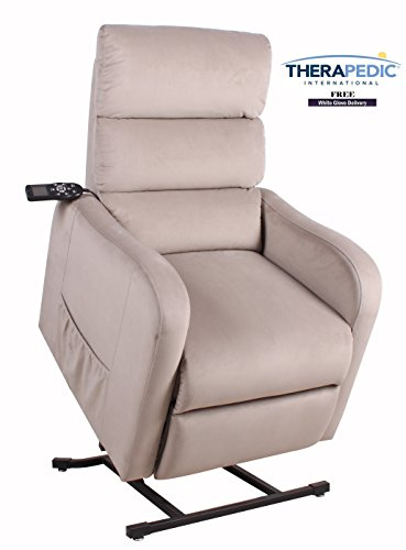 "THERAPEDIC Lift Chair Recliners, The ""Concord"" - Granite Color - Live Smart Fabric for Stain Resistance - Direct from Therapedic International TRUSTED BRAND NAME (Mart Carolina Furniture)"