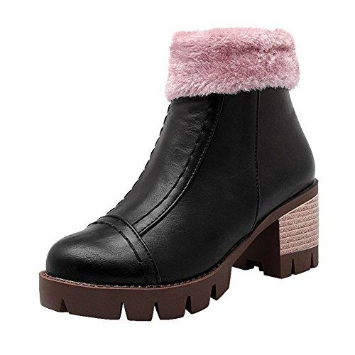 Stivali Invernali Invernali Con Tacco Medio In Pelle Con Tacco Medio In Pelliccia Sintetica Donna Carolbar
