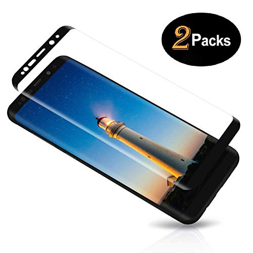 [2-Pack] Samsung Galaxy S8 Plus Tempered Glass Screen Protector,9H Hardness,Anti-Fingerprint,Ultra-Clear, Full Coverage,Bubble Free Screen Protector for Galaxy S8 Plus
