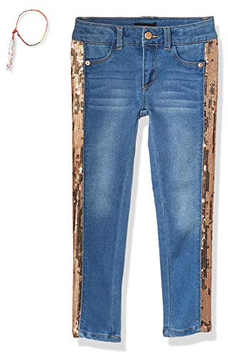 DKNY Girls Sequin Tape Skinny Jean,