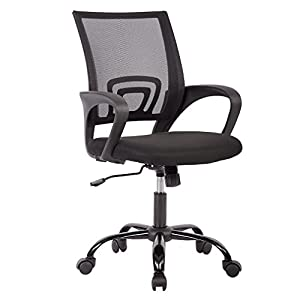 Ergonomic Office Chair Cheap Desk Chair Mesh Computer Chair Back Support Modern Executive Adjustable Arms Rolling Swivel Chair for Women, Men