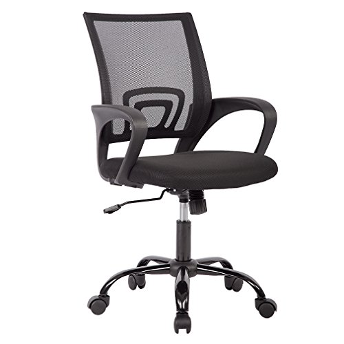 Ergonomic Mesh Computer Office Desk Midback Task Chair w/Metal Base, One Pack (For Chair Office Base)