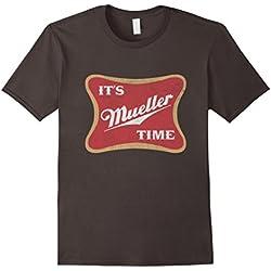 Mens It's Robert Mueller Time Anti Trump 2017 Resist Tee Shirt Large Asphalt