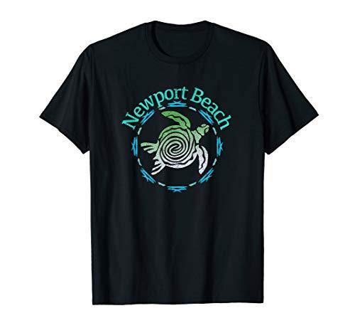 Beach Newport Green - Newport Beach T-Shirt Vintage Tribal Turtle Gift TShirt