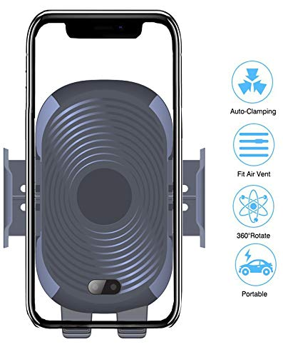 DB Wireless Car Holder/Auto-Clamping Mount/Car Air Vent Mount Holder Cradle Compatible for Samsung Galaxy S9,S8 S7,Note 8, iPhone X/XS/XS Max/XR/8/8 Plus and Other Phones