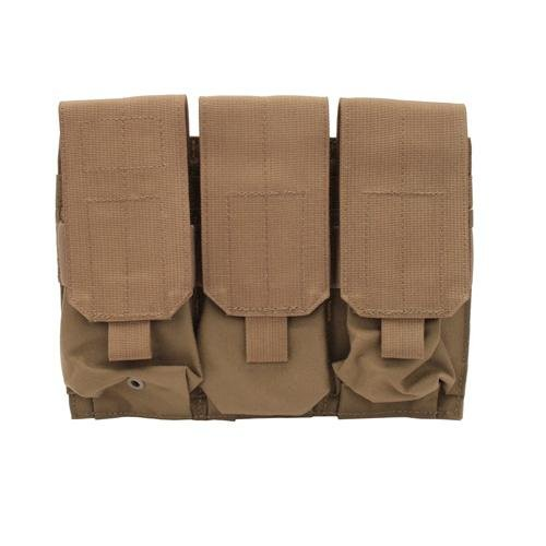 BLACKHAWK! M4/M16 Triple Mag Pouch (Holds 6) with Speed Clips, Coyote Tan