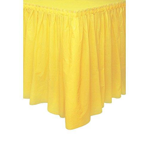 Light Yellow Plastic Table Skirt