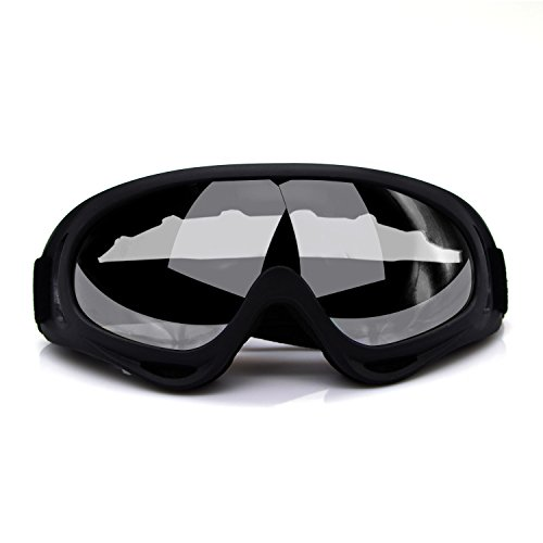 Elemart Adjustable UV Protective Outdoor Glasses Motorcycle Goggles Dust-proof Protective Combat Goggles Military Outdoor Tactical Goggles to Prevent Particulates and Fog in Clear