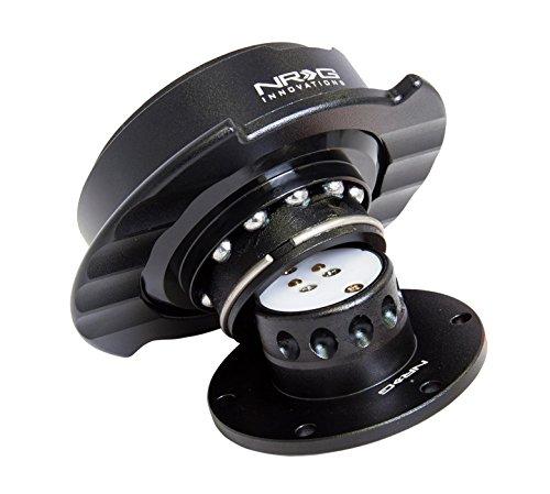 NRG Steering Wheel Quick Release Kit - Gen 2.5 - Part # SRK-250BK (Black/Black Ring W/ Finger Grooves)