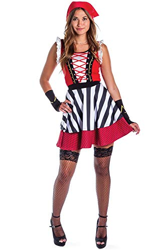 Tipsy Elves Women's Sexy Pirate Costume Dress - Female Pirate Costume for Halloween: Medium for $<!--$29.95-->