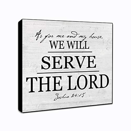LACOFFIO As for Me and My House We Will Serve The Lord Wall Decor Plaque 6