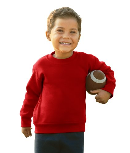 Toddler/Juvenile Crew Neck Sweatshirt (Red) (5/6T)