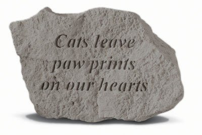 Kay Berry- Inc. 78420 Cats Leave Paw Prints On Our Hearts - Memorial - 5 Inches x 3.25 Inches