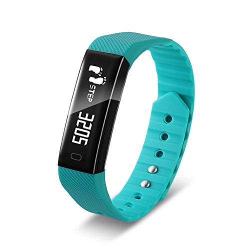 Price comparison product image For F3 Bluetooth Smart Watch, Candy Color Bracelet Wristband Health Pedometer Sport Fitness Tracker Waterproof Wrist Watch (Blue)