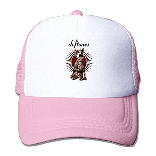 Nquqiyilu Mens Like Linus EP Deftones Band Adrenaline Cat Cool Travel Pink Mesh Cap Hat Adjustable ()