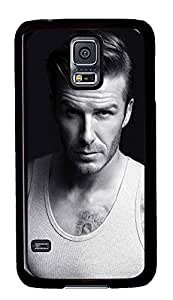 S5 Case, Galaxy S5 Case, Samsung Galaxy S5 Case - Hard PC Protective David Beckham Top Creativity Case Black Cover Heavy Duty Protection Shock-Absorption / Impact Resistant Slim Case for Galaxy S5 / Galaxy SV / Galaxy S V / Galaxy i9600