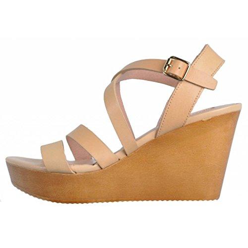 tacchi chiaro marca 50861 trasparente marrone sandali modello Sandali con naturale colore pIBqIf5