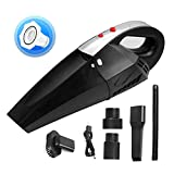 Handheld Vacuum Cordless Car & Home Vacuum Cleaner with LED Light HEPA Filter 12V 120W High Suction Portable Wet/Dry Vacuum Cleaner