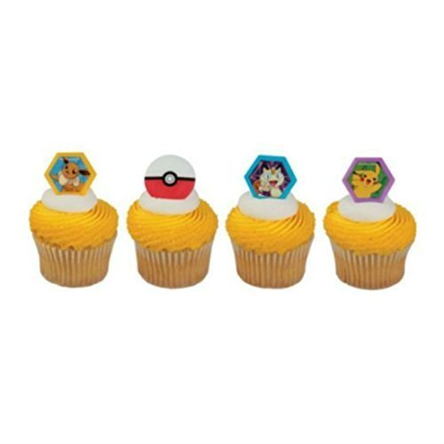 Cake Decorating Cupcake Ring Toppers - Pokemon