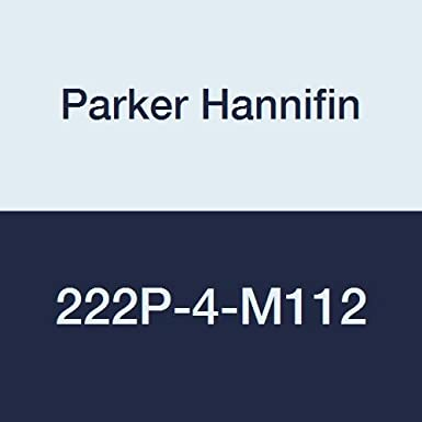 1//4-18 NPTF x M12 x 1.5 Metric Thread Parker Hannifin 222P-4-M112 Brass Pipe to Metric Adaptor