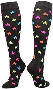 Krazisox Multi-Color Stars (Black, Small)