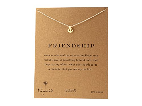 Gold Anchor Necklace (Dogeared Women's Friendship Anchor Reminder Necklace Gold One Size)